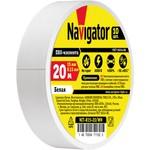 Изолента Navigator 71 102 NIT-B15-20/WH белая