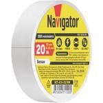 Изолента Navigator 71 109 NIT-A19-20/WH белая