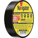 Изолента Navigator 71 110 NIT-A19-20/BL чёрная
