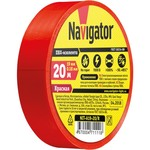 Изолента Navigator 71 111 NIT-A19-20/R красная