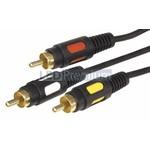 Шнур 3RCA Plug - 3RCA Plug 10М (Gold) (PL-3420-10)