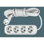 Удлинитель УЗ-4-3 4-х местн 3м с з/к АБС пластик ASD 8143