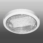 Светильник люминесцентный накладной N-226 прозрачное стекло 26W d235*H50 (белый)