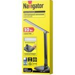 Настольная лампа Navigator 94 682 NDF-D015-10W-6K-BL-LED на основании, черный