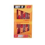 SHTOK Набор диэлектрических отверток 6 предметов  картон 1000В ШТОК 09906