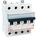 Автоматический выключатель Legrand DX3 4-полюсный С20A 6000/10kA характеристика C