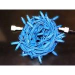 Светодиодная гирлянда Нить 10 м, 24В, синий, синяя резина