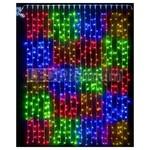Светодиодный занавес 2x3 м Мультиквадраты