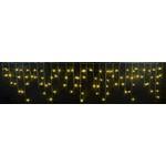 Светодиодная бахрома 3x0.5 м, черный провод, желтый