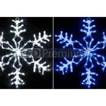 Снежинка светодиодная мерцающая 70 см, синий