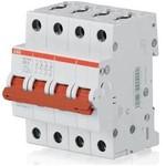 Рубильник ABB Е204 r 4-полюсный выключатель нагрузки 63A рычаг красный