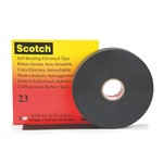 Высокоэластичная резиновая изоляционная лента Scotch 23 3M 19мм х 9,15м x 0,76mm(Черный цвет)