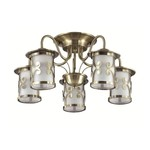 3118/5C LN16 000 бронзовый/стекло/метал. декор Люстра потолочная E27 5*40W 220V Sekvana