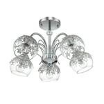 3066/5C LN16 000 хром/стекло/метал. декор Люстра потолочная E14 5*40W 220V Felissa