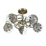 3067/5C LN16 000 бронзовый/стекло/метал. декор Люстра потолочная E14 5*40W 220V Felissa
