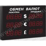 Импульс-306-3x2xZ4-B Офисные табло валют 4 разряда