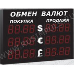 Импульс-309-3x2xZ4-EY2 Уличные табло валют 4 разряда