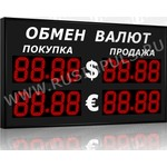 Импульс-313-2x2xZ4-EW2 Уличные табло валют 4 разряда