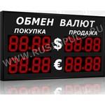 Импульс-313-2x2xZ4-EY2 Уличные табло валют 4 разряда