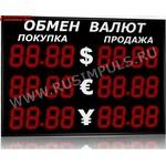 Импульс-315-3x2xZ4-EW2 Уличные табло валют 4 разряда