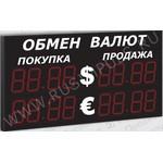 Импульс-321-2x2xZ4-EG2 Уличные табло валют 4 разряда