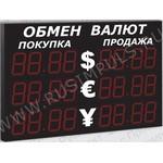 Импульс-321-3x2xZ4-ER2 Уличные табло валют 4 разряда