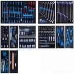 Набор инструментов для тележки (12 ложементов, 235 предметов) king tony 934-235mrvd