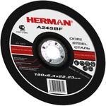 Абразивный шлифовальный круг HERMAN STANDARD 180х6,0х22,2мм