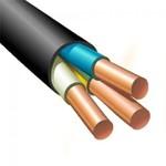 Силовой кабель ВВГнг(А)-LS 3х2.5ок (N, PE) - 0.66 ТРТС однопроволочный 710133 Экокабель