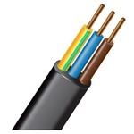 Силовой кабель ВВГ-П нг (А) LS 3х6-ок-06ТРТС однопроволочный плоский|М000558 МАГНА