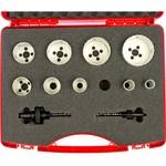 Набор коронок hss-co (19-64 мм) 9 шт. + 2 адаптера ruko 126306