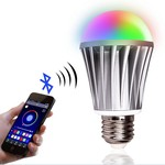 Управляемая смартфоном через Bluetooth светодиодная лампа Smart LED Bulb E27 7.5W