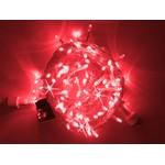 Светодиодная гирлянда Нить 10 м, 220В, мерцающая, соединяемая, прозрачный провод, красная