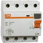 Устройство защитного отключения вд1-63 4р 50а 30ма tdm sq0203-0041