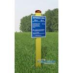 Трехгранная стойка для информационно-предупреждающих знаков ИПЗ