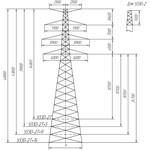 опора ЛЭП У330-2Т+9 цинк