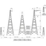 опора ЛЭП УСТ500-1+13 цинк
