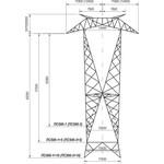 опора ЛЭП ПС500-3+5 цинк