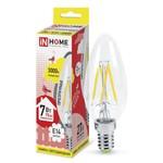 Лампа светодиодная LED-Свеча-deco 7Вт 230В Е14 3000К 630Лм прозрачная IN Home