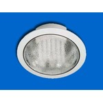 9213 J-2 Светильник встраиваемый, D180*73мм, h60мм, белый, с лампой 13W, 3500К Матовое стекло (D-07-R) (теплый белый)