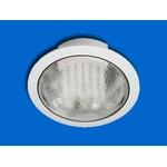 9213 J-3 Светильник встраиваемый, D180*73мм, h60мм, белый, с лампой 13W, Прозрачное стекло (D-07-R) (теплый белый)