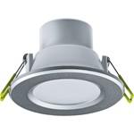 Светильник встраиваемый светодиодный (LED) Navigator 6Вт 420лм серебро 4000К D100х70 мм IP44 матовый рассеиват
