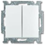 Выключатель/переключатель/диммер ABB ABB BJB Basic 55 Беж Переключатель 2-х клавишный (1012-0-2151 (2006/6/6 UC-92)
