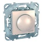 Выключатель/переключатель/диммер Schneider Electric Schneider Electric SE Unica Беж Светорегулятор поворотный 40-400W для л/н и г/л с обмот. тр-ром, перекл (MGU5.511.25ZD)