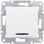 Выключатель/переключатель/диммер Schneider Electric Schneider Electric SE Sedna Бел Переключатель 1-клавишный с подсветкой 10А (сх.6) (SE SDN1500121)