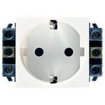 Розетка силовая Legrand Legrand Mosaic Розетка с/з 1-ая 2М для кабель-каналов, проходные клеммы (077601)