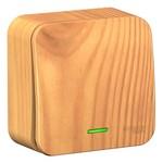 Переключатель 1-клавишный с подсветкой (cх.6) Blanca Schneider Electric 10А 250В ясень изол.пластина