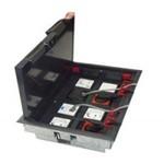 Ecoplast 70180 Коробка с суппортами для люка LUK/8 в пол, металлическая для заливки в бетон