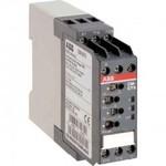 Однофазное реле контроля тока ABB (АББ) CM-SRS.12 (диапазоны измерения 0.3-1.5А, 1-5A, 3-15A) 220-240В AC, 1ПК