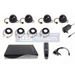 Комплект видеонаблюдения 4 внутренние черно-белые камеры, матрица SONY CCD 600 ТВЛ, 3,6 мм (без жесткого диска)